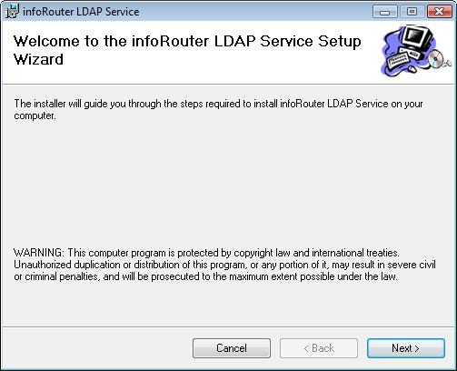 infoRouter LDAP Synchronization Manager - Synchronize LDAP